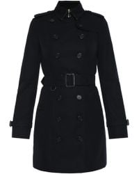 Burberry 'the Sandringham' Double-breasted Trench Coat - Black