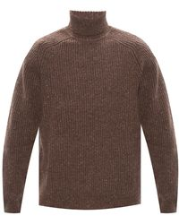 Samsøe & Samsøe Ribbed Turtleneck Sweater - Brown