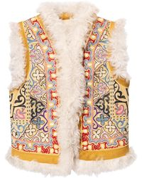 Etro Shearling Vest - Multicolour