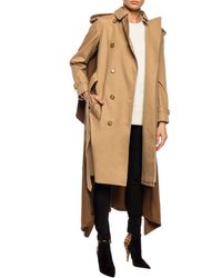 Burberry Cotton And Cashmere Coat - Natural