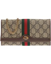Gucci 'ophidia' Wallet On Chain - Brown