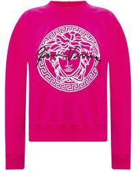 Versace Sweatshirt With Logo Pink