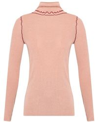 PS by Paul Smith Ribbed Turtleneck Sweater - Natural
