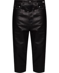 Rick Owens DRKSHDW Trousers With Logo - Black