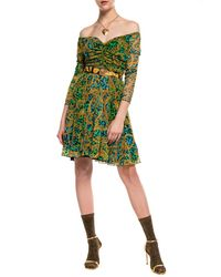 Versace Jeans Couture Patterned Dress Green