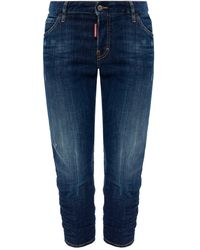 DSquared² 'cool Girl Cropped Jean' Jeans Navy Blue