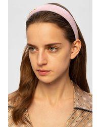 Balmain Logo Headband - Pink