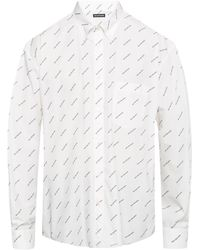 a1c38ce07f7c Balenciaga Short Sleeve All Over Print Shirt in White for Men - Lyst