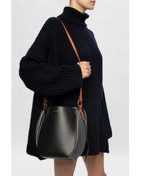Marni Leather Bucket Bag Black