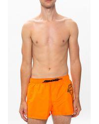 Versace Medusa Head Swim Shorts Orange