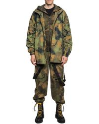 Off-White c/o Virgil Abloh Camo Pattern Trousers - Green