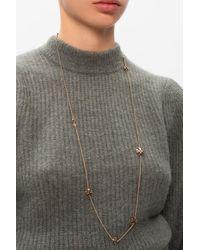 Tory Burch Kira Long Necklace - Metallic