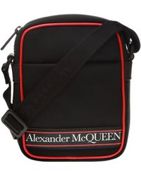 Alexander McQueen Mini Messenger Bag - Black