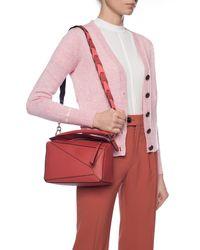 Loewe Logo Bag Strap Pink