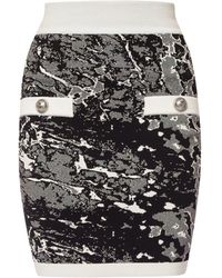 Balmain Embroidered Skirt - Black