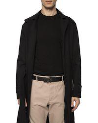 Ferragamo Double Sf Fixed Leather Belt - Black