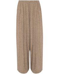 The Row 'kadir' Wide Leg Trousers - Brown