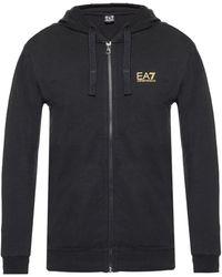 EA7 - Logo-printed Hoodie - Lyst