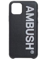 Ambush Iphone 11 Pro Case With Logo - Black