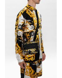 Versace Jeans Patterned Shoulder Bag - Black