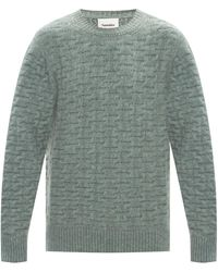 Nanushka Round Neck Sweater - Green