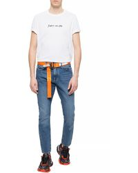 Iceberg - Jeans With Logo Navy Blue - Lyst