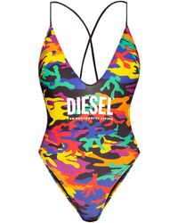DIESEL One-piece Swimsuit With Logo - Multicolour