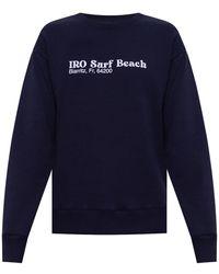 IRO Logo-printed Sweatshirt - Blue