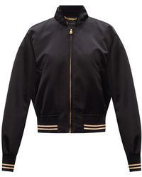 Versace Bomber Jacket With Medusa Head - Black