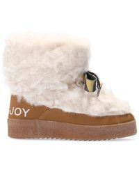 Khrisjoy Fur Snow Boots - Brown