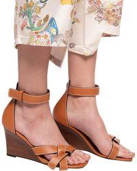 Loewe Platform Sandals Brown