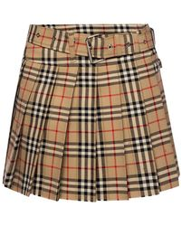 Burberry Pleated Skirt - Brown