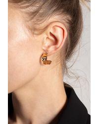 Moschino Earrings With Logo - Metallic