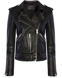 AllSaints 'balfern' Biker Jacket Black