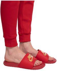 Nike Benassi Jdi Slide - Red