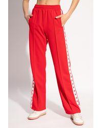 Golden Goose Side-stripe Sweatpants - Red