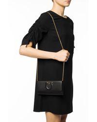 Ferragamo 'gancini' Shoulder Bag - Black