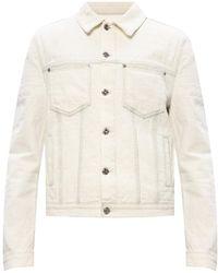 MCM Jacket With Logo - White