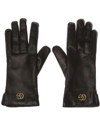 Gucci Logo Gloves - Black