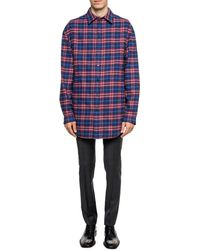 Balenciaga Checked Pleat-front Trousers Grey