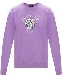 Versace Printed Sweatshirt - Purple
