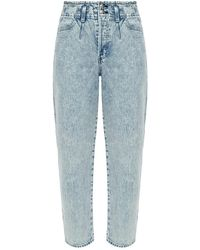 Rag & Bone Darted '90s Ultra High Waist Tapered Jeans - Blue