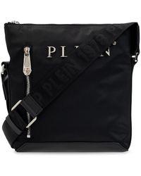 Philipp Plein Shoulder Bag With Logo - Black