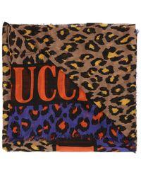 Gucci Leopard-printed Shawl - Multicolour