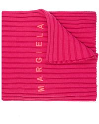 MM6 by Maison Martin Margiela Scarf With Logo - Pink