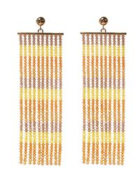 Jacquemus Beaded Drop Earrings Orange