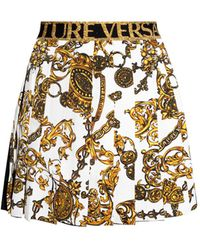 Versace Jeans Couture Pleated Skirt - White