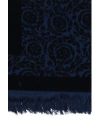 Versace Greek Key Towel - Blue