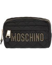 Moschino - Logo Wash Bag - Lyst