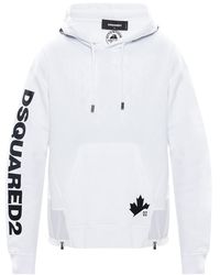 DSquared² Logo Hoodie White